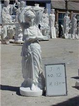 Woman Stone Sculptures,Western Figure Statue,Outdoor Garden White Marble Sculptures