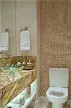Verde Esmeralda Onyx Bathroom Countertop