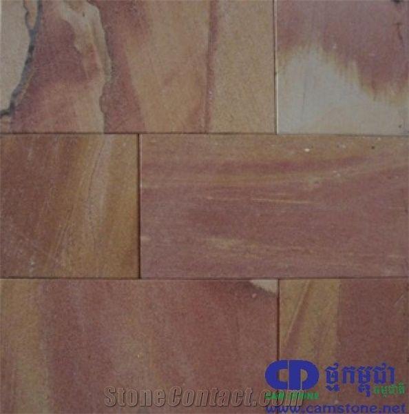 Plain Red Sandstone Tiles, Cambodia Red Sandstone
