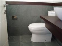 Slate Bathroom Wall and Floor Tiles, Piedra Laja Negra Slate Slabs & Tiles