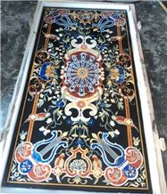 Black Marble Inlay Table Tops, Tabletop Exporter Marble Inlay Table Top Manufacturers Inlay Table