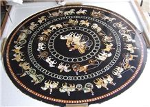 Marble Inlay Table Top, Pietre Dure Table Top