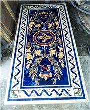 Marble Stone Inlay Dinning Table Top Pietra Dura Table Top