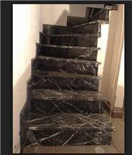 Grigio Carnico Marble Stairs