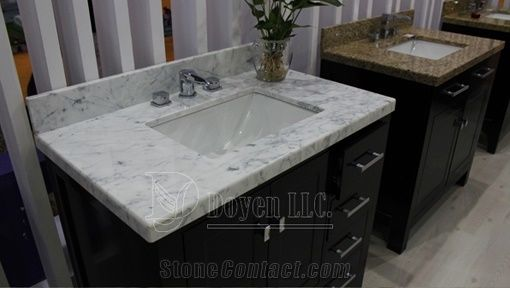 Distributor Granite Vanity Tops White Carrara Marble Vanity Tops