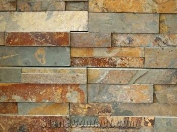 Gold Rush Slate Ledger Panel Stacked Stone From United