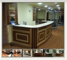 Marble Reception Work Countertops