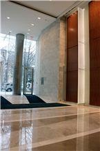 Arctic Silver Limestone Tiles & Slabs, White Limestone Turkey Flooring Tiles