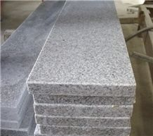 G603 Granite Window Parapets with 1/4 R and Trim