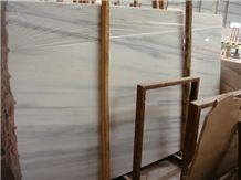 China Bianco Carrara White Honed Marble Slabs,Ice Flower Marble Tiles with Blue Veins
