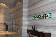Crystal Wood Vein Marble Slabs Vein Cut, White Wooden Marble Slabs Tiles Panel Hotel Walling,Floor Covering Interior Stone