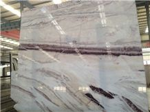 Ivory Cream Marble Slabs Tiles with Pink Veins,Good Quality Machine Cutting Polished Panel for Reception Desk Material,