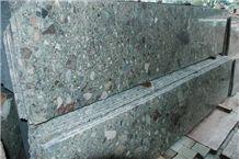 Verde Marinace Green Mosaic Granite Slabs Tiles, Jurassic Green Granite, Verde Jurrasico Brazil Green Granite Panel Villa Floor Covering,Walling