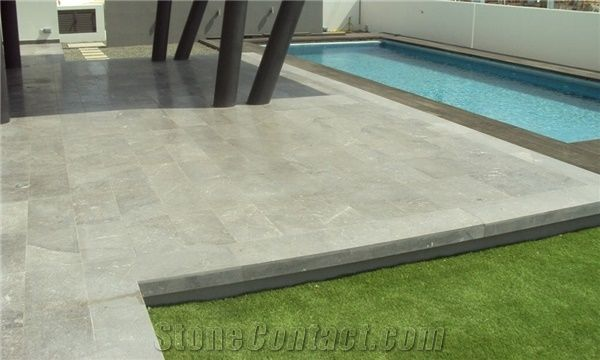 Creta Grey Marble Pool Deck Pavement From Cyprus
