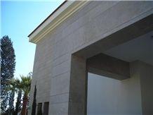 Ligourio Dark Beige Marble Exterior Wall Aplication