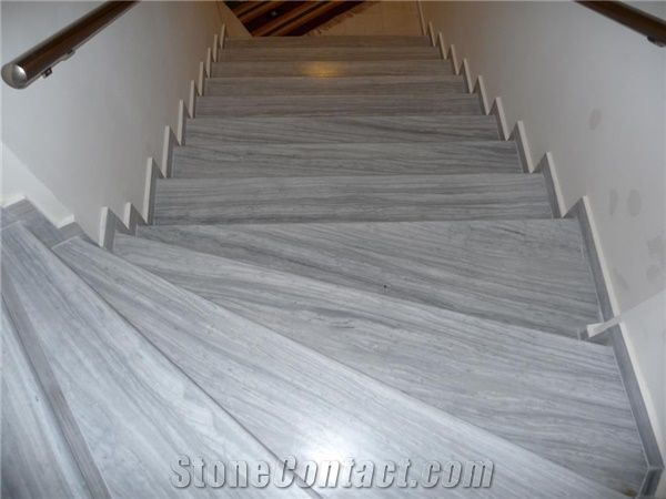 Nestos Semi White Grey Marble Staircase From Cyprus