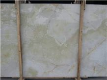 Champagne Onyx Slabs & Tiles, China Green Onyx