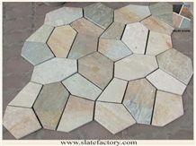 P014 Golden Quartzite Crazy Paving Suppliers