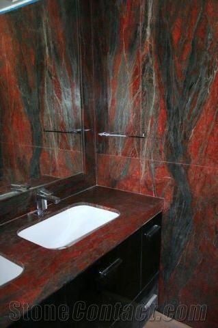 Red Dragon Granite Bathroom Vanity Top