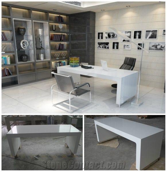Charming Modern Long Narrow Simple Office Desk