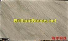 Brasil Sea Pearl Quartzite Slab, Brazil White Quartzite