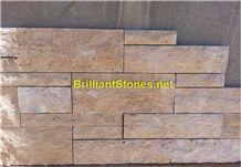 China Beige Limestone Cultured Stone Split Finish