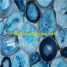 Crystallized Blue Agate Semiprecious Stone