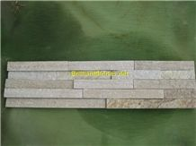 Golden Lines Quartzite Cultured Stone
