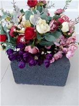 Basalt Lava Stone Vase Handcraft for Sale