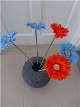 Lava Stone Handcraft Flower Vase for Decoration