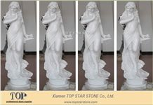 Absolute White Marble Lady Statue
