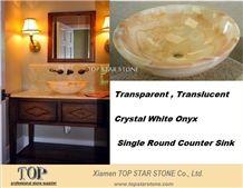 Crystal Onyx Bathroom Above Sink