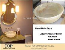 Pakista Pure White Onyx Above Counter Basin