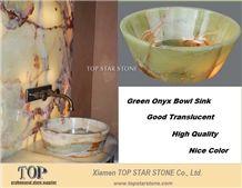 Translucent Green Onyx Bowl Sink