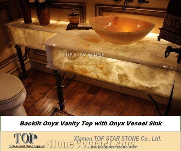 Translucent Honey Cream Art Vessel Sink from China - StoneContact.com