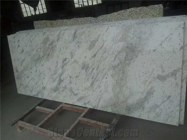 White Galaxy Granite Countertop, Kitchen Work Top,India White ...