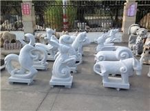 White Marble Animals Sculpture,Animal Stone Carving,Eagle Animal Stone Sculpture