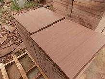 China Red Wooden Sandstone Tiles