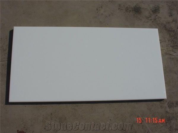 Nano White Artificial Marble Slabs Tiles From China StoneContactcom - Fake marble slab
