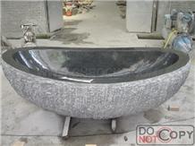 China G654 Granite Bathtub, Dark Granite Bathtub