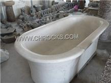 Guangxi White Marble Bathtub,White Marble Bathtub