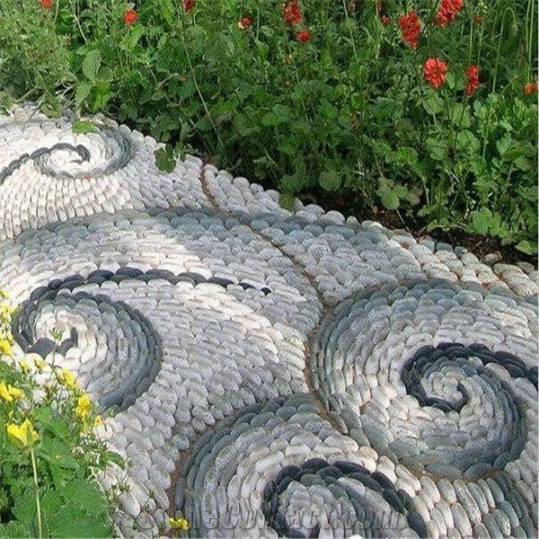 Colorful Pebble Stone Garden Design Pebble Stone Walkway From