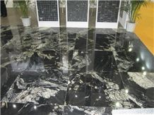 Nero Fantasy, Black Marble Flooring Tiles