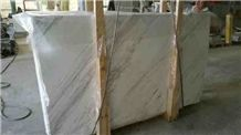 Volaka White Light Slabs & Tiles, Volakas Imperial White Marble Slabs & Tiles