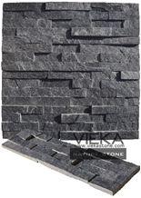 Black Quartzize Culture Stone Wall Panel Ledge Stone/Veneer/Stacked Stone 60x15cm