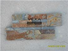 China Rusty Culture Stone/Ledgestone/Multicolor Stone Panel/Wall Panel 35x18cm
