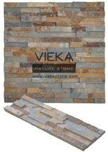China Rusty Slate Culture Stone/Stacked Veneer/Ledgestone/Multicolor Stone Panel/Wall Panel 60x15cm