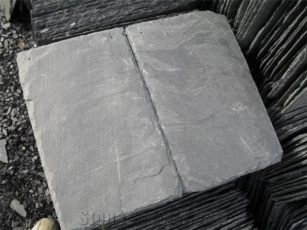China Grey Slate Tile For Roofing Roof Covering Tile