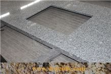 G603 Cheap Grey Granite Bath Vanity Countertops