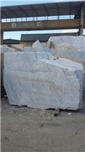 Venatino Gioia Italy White Marble Block, Bianco Venato White Marble Block
